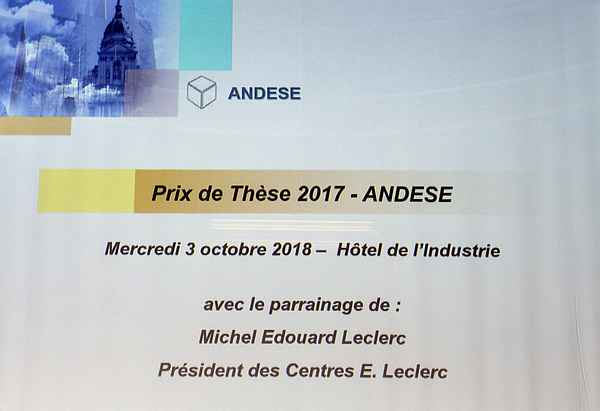 Prix de These 2017 ANDESE